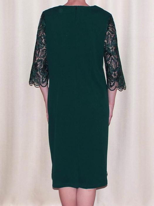 Rochie de seara cu maneca trei sferturi - Catalina Verde 1