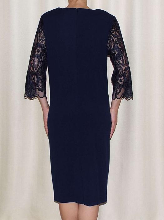 Rochie de seara din crep si dantela - Catalina Bleumarin 1