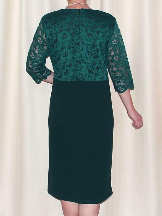 Rochie de seara din dantela si crep - Cecilia Verde [2]