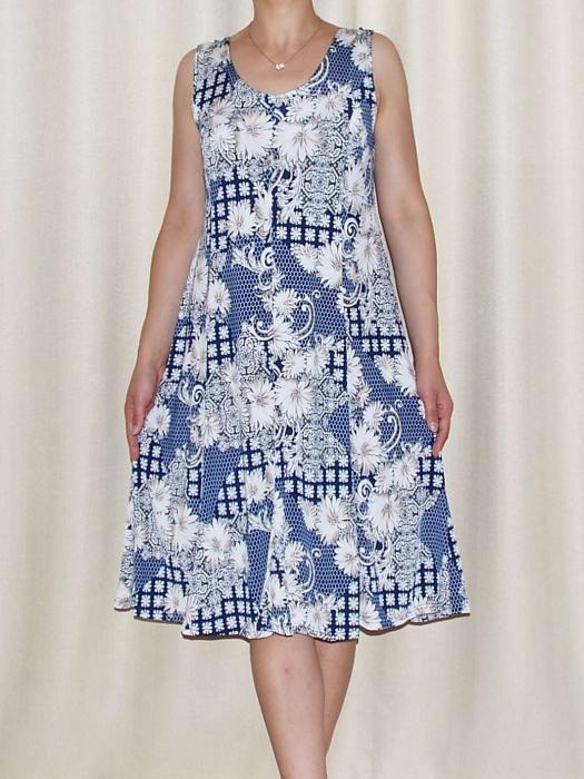 Rochie de vara cu imprimeu floral si bretele - Romina 2 0