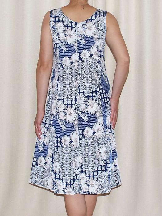 Rochie de vara cu imprimeu floral si bretele - Romina 2 1