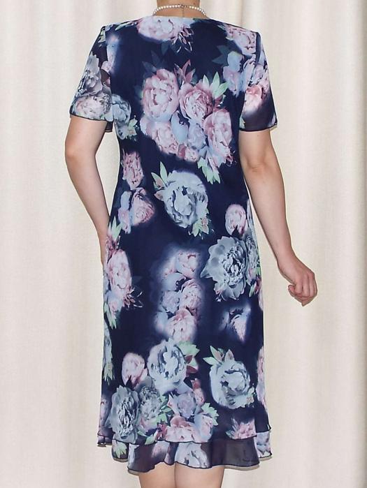 Rochie de vara din voal cu imprimeu floral  - Alexandra 14 [1]