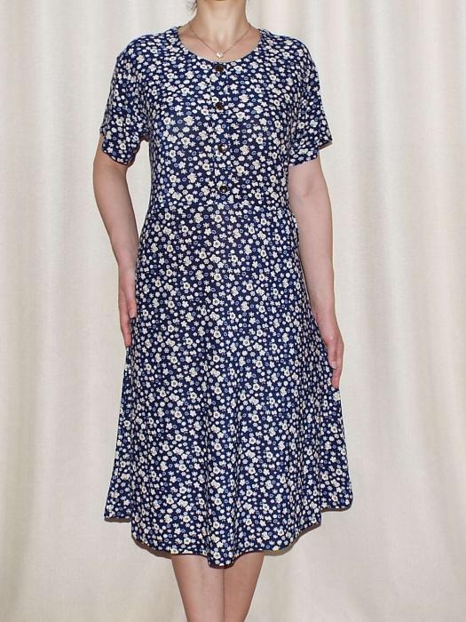 Rochie de zi cu buzunare si maneca scurta - Miriam 7 0
