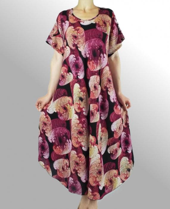 Rochie de zi cu croi lejer si imprimeu floral  - Daniela 0