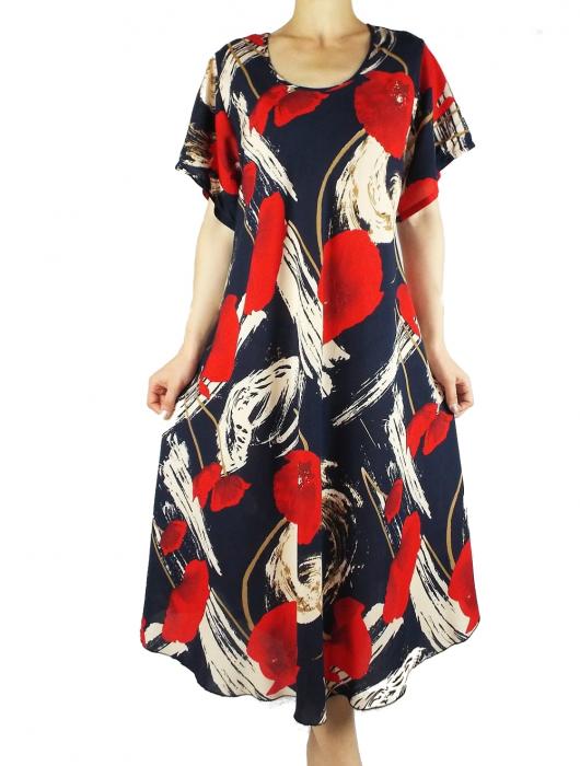 Rochie de zi cu croi lejer si imprimeu floral - Fabiana 0