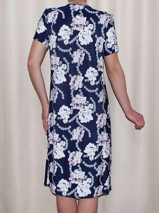 Rochie de zi cu imprimeu floral si maneca scurta - Malvina 1