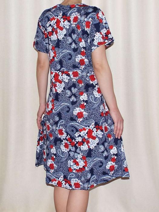 Rochie de zi cu imprimeu floral si maneca scurta - Miriam 1 1