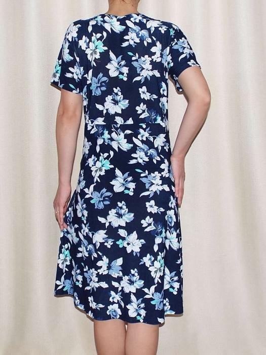Rochie de zi cu imprimeu floral si maneca scurta - Miriam 8 1