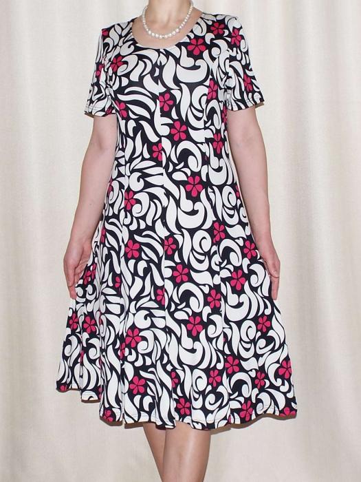 Rochie de zi cu imprimeu floral si maneca scurta - Vera Roz 0