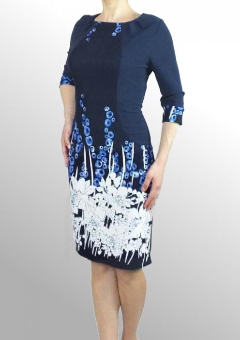 Rochie de zi cu imprimeu si maneca trei sferturi - Ada 0