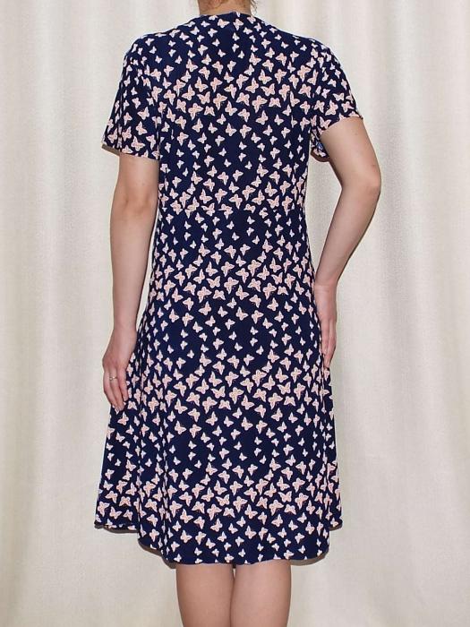 Rochie de zi cu imprimeu si nasturi la piept - Miriam 5 2