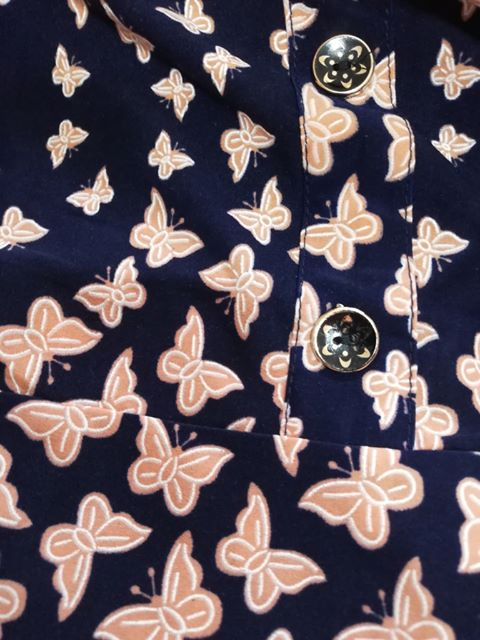 Rochie de zi cu imprimeu si nasturi la piept - Miriam 5 3