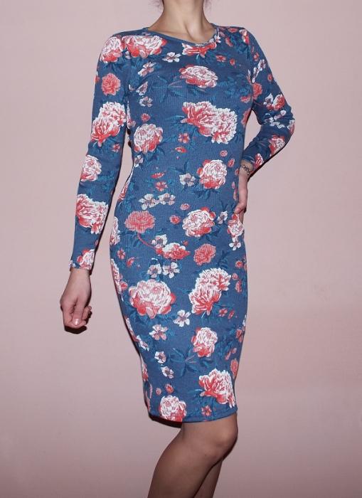 Rochie de zi din bumbac cu imprimeu floral - Print2 0