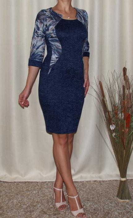 Rochie de zi din tricot cu maneca trei sferturi - Lorena 2 1