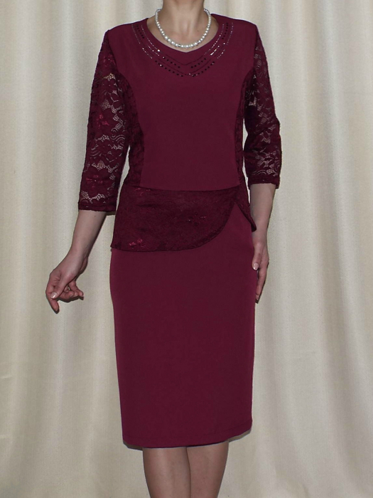 Rochie eleganta cu maneca trei sferturi - Felicia Grena [0]