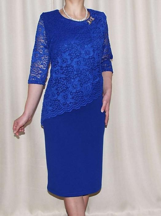 Rochie eleganta cu maneca trei sferturi - Octavia Albastru 0