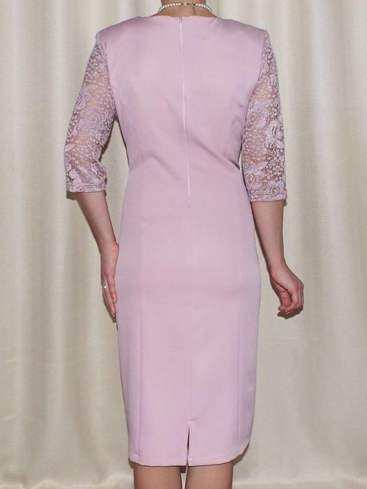 Rochie eleganta cu maneca trei sferturi - Octavia Pudra 1