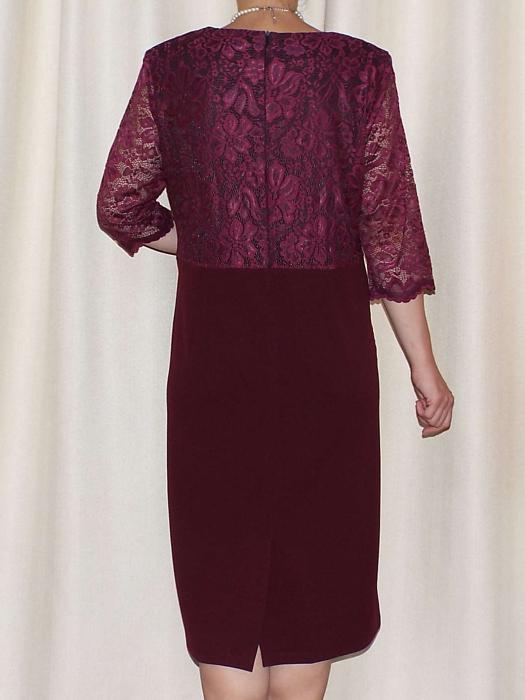 Rochie eleganta cu maneca trei sferturi si accesoriu - Cecilia Grena [1]