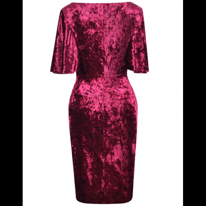 Rochie eleganta din catifea cu maneca scurta - Agnes 3