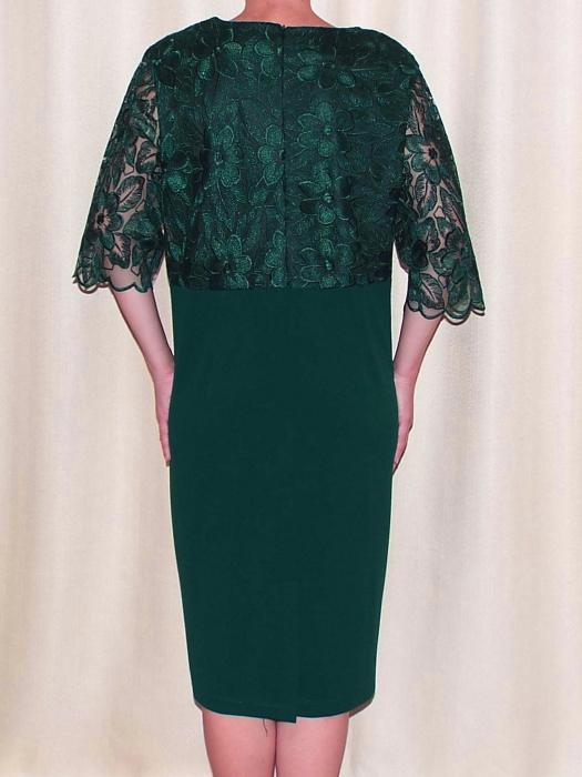 Rochie eleganta din dantela si crep  - Narcisa Verde [1]