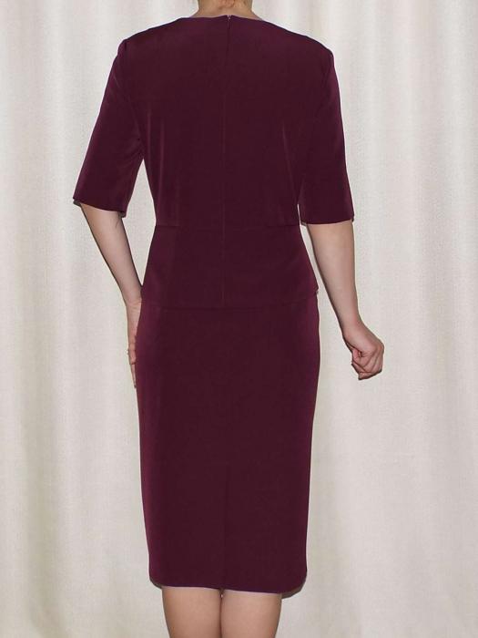 Rochie eleganta din stofa cu decupaj - Luiza Bordo 1