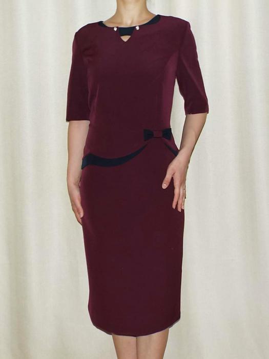Rochie eleganta din stofa cu decupaj - Luiza Bordo 0