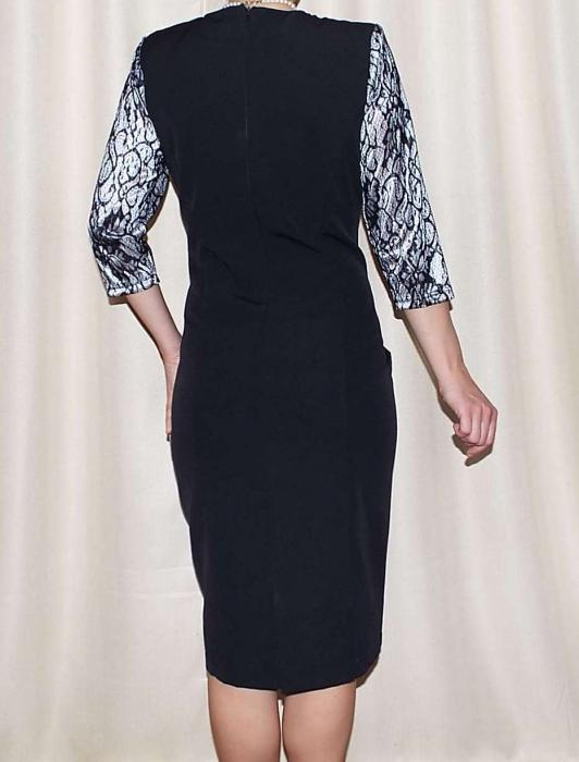 Rochie eleganta din stofa si dantela - Dorina Negru 1