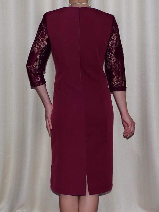 Rochie eleganta din stofa si dantela - Flavia Grena 1
