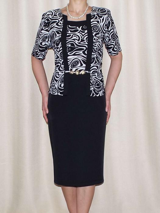 Rochie eleganta din stofa si vascoza cu accesoriu - Luciana 0