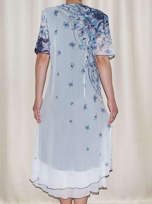 Rochie eleganta din voal cu brosa detasabila - Helen 1