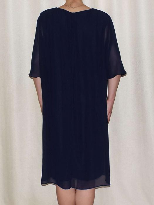 Rochie eleganta din voal cu maneca scurta - Ileana Bleumarin 1