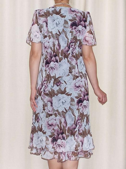 Rochie eleganta din voal imprimat - Alexandra 16 [1]