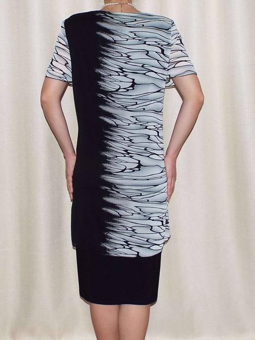 Rochie eleganta din voal si vascoza - Ruxandra Negru 1