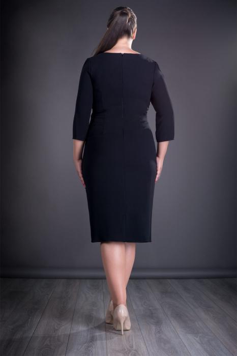 Rochie eleganta neagra cu dantela macrame grena - Jordan 1