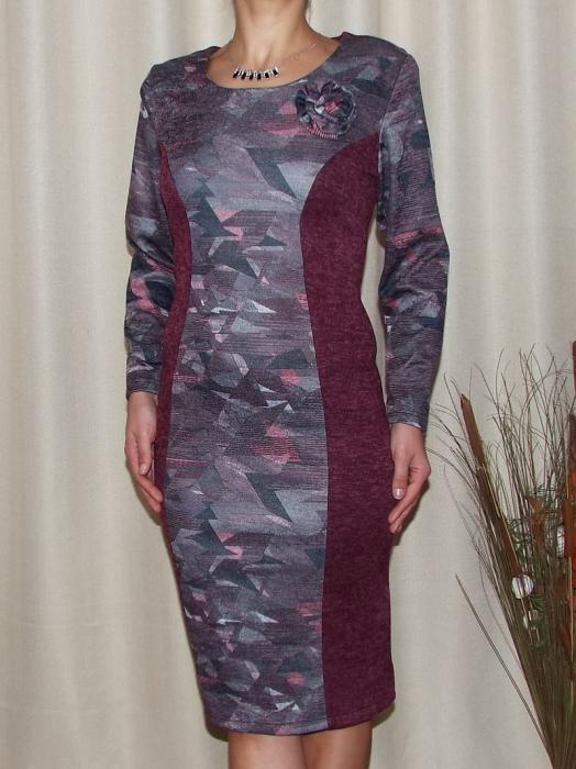 Rochie midi din tricot cu brosa detasabila - Eleonora Grena 0
