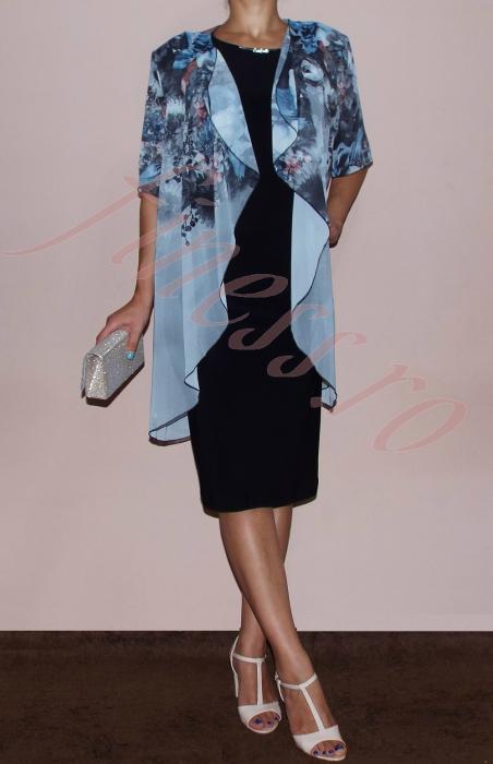 Rochie midi eleganta cu blazer detasabil - Ama Gri 0
