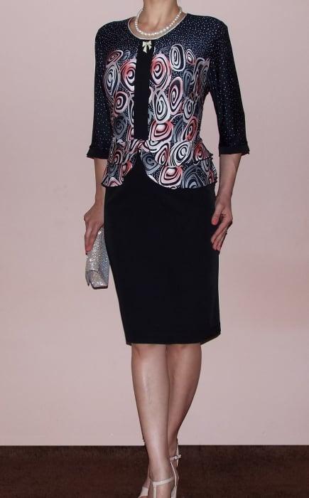 Rochie midi eleganta cu imprimeu si maneca trei sferturi - Zara 1