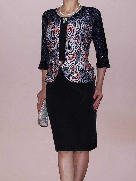 Rochie midi eleganta cu imprimeu si maneca trei sferturi - Zara [0]