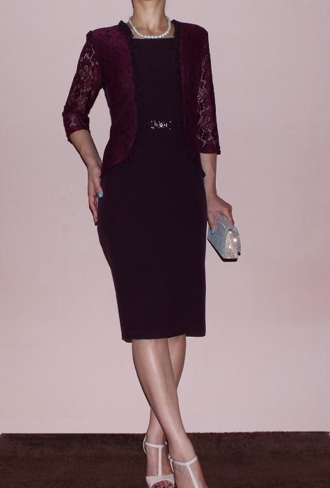 Rochie midi eleganta cu maneca trei sferturi - Anabela 0