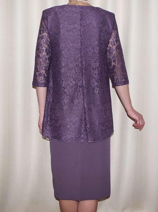 Rochie midi eleganta cu maneca trei sferturi - Anastasia Mov 1