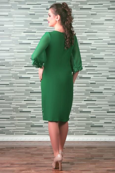 Rochie midi eleganta cu maneca trei sferturi - Cezara Verde 1
