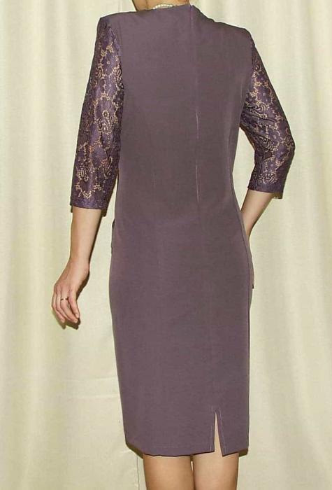 Rochie midi eleganta cu maneca trei sferturi - Ozana Mov 1