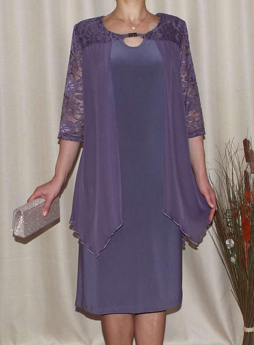 Rochie midi eleganta cu maneca trei sferturi - Doris Lila [0]