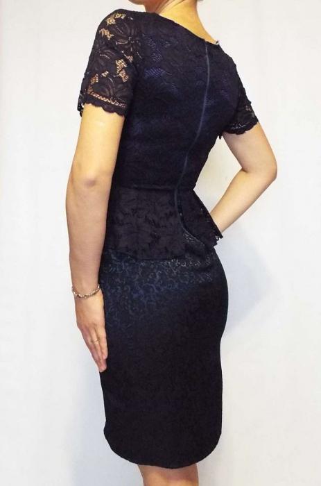 Rochie midi eleganta cu peplum - R165 1