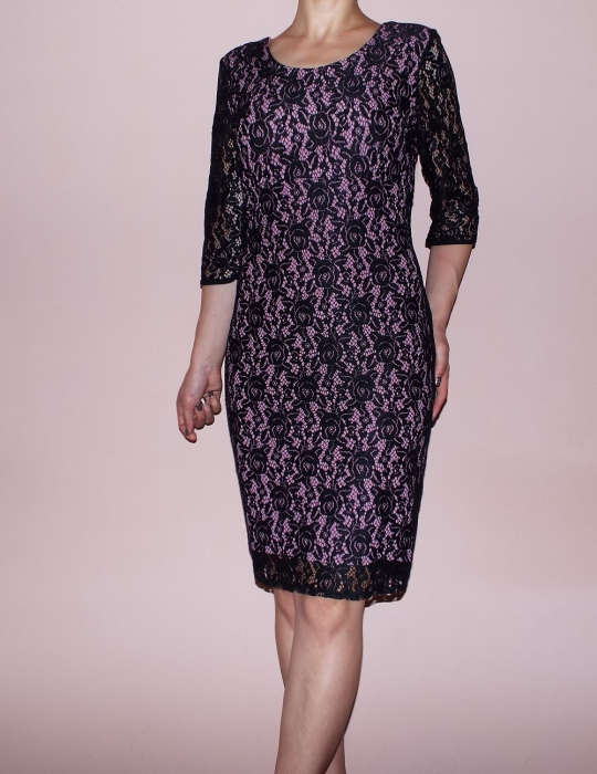 Rochie midi eleganta din dantela neagra - Gia Lila [0]