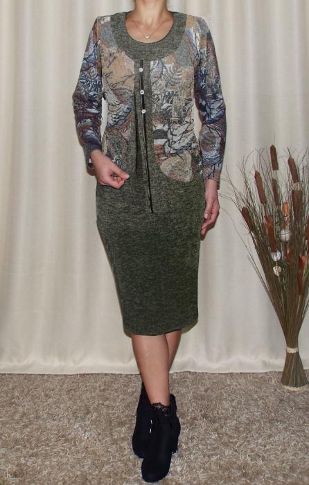 Rochie midi eleganta din tricot cu maneca lunga - Adriana Kaki [1]