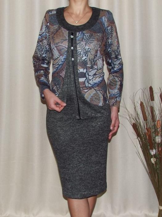 Rochie midi eleganta din tricot cu maneca lunga - Adriana Kaki [0]