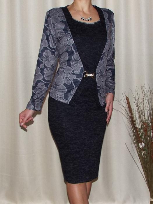 Rochie midi eleganta din tricot cu maneca lunga - Alberta Gri 0