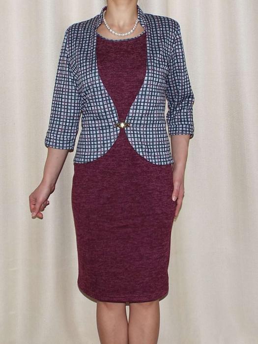 Rochie midi tricotata cu maneca trei sferturi - Valeria Grena 0