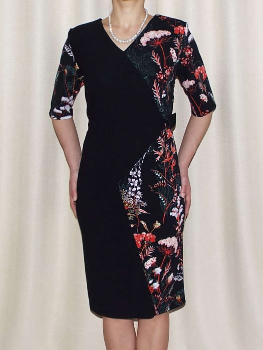 Rochie office eleganta cu imprimeu floral - Otilia Negru 0